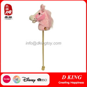 Riding on Wholesale Pink Stuffed Stick Hobby Horses Head Toy pictures & photos