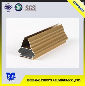 Golden Electrophoretic Aluminum Alloy Profiles for Decorative Aluminium Alloys pictures & photos
