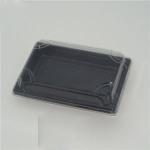 Disposable custom printed take away plastic sushi packaging box pictures & photos