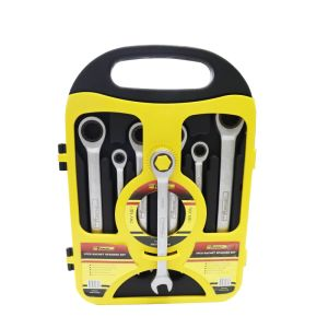7PCS Cr-V Ratchet Wrench Set Gear Combination Spanner Set pictures & photos
