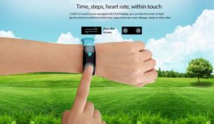 Cubot V2 Smart Band Heart Rate Monitor GPS Sports Bracelet Fitness Tracker Pulse Waterproof Wristband Watch for Ios Android Smart Phone Black Color pictures & photos