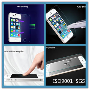 Wholesale Nano Electroplating Dropproof Anti-Scratch 9h Tempered Glass Film for iPhone 4/4s/5/5s/5c/5e Screen Protector pictures & photos