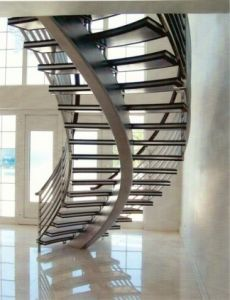 Curved Rod Railing Staircase pictures & photos