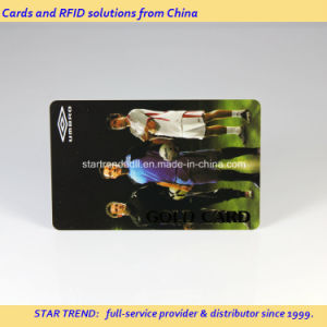 Printing PVC Magnetic Stripe Card with Highlight Stamped Foil pictures & photos