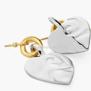 Silver & Gold Plated Heart Dangle Earrings for Women Fashion Jewelry Wholesale pictures & photos