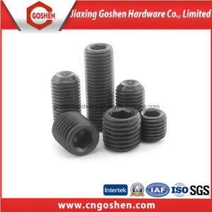 DIN916 Black Hexagon Socket Set Screws with Cup Point pictures & photos