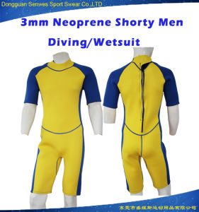3mm Men Neoprene Super Stretch Durable Short Surfing Wetsuit pictures & photos