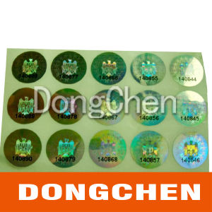 Clear Transparent Holographic Laser Foil Film Label pictures & photos
