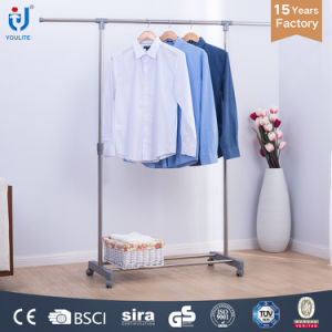 Extendable Single Rod Clothes and Shoes Hanger Stand pictures & photos