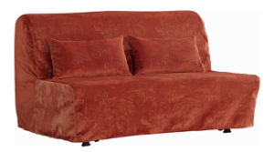 Leisure Folded Fabric Sofa Bed with Cover pictures & photos
