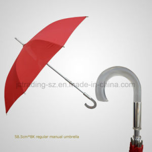 Acrylic Handle Regular Manual Straight Umbrella pictures & photos
