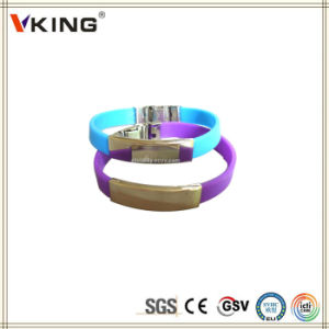 Cheap China Wholesales Printed Silicone Wristbands pictures & photos