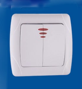 New Model Two Gang One Way European Wall Switch
