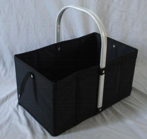 Aluminum Handle Food and Drink Cooler Folding Shopping Basket pictures & photos