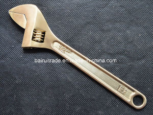 Non Sparkinig Tools Safety Wrench Copper Wrench Brass Adjustable Wrench pictures & photos