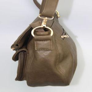 Women PU Shoulder Bag Black Ladies PU Handbag Fashion Accessory Supplier pictures & photos