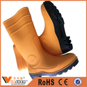 Wholesale Steel Toe Waterproof Gumboots PVC Industrial Work Safety Boots pictures & photos