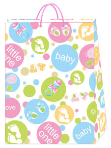 Special Elephant Printed Paper Bag for Baby pictures & photos
