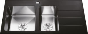 G1901 Single Bowl Glass Stainless Steel Sink pictures & photos