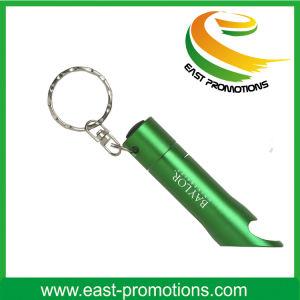 Aluminum Alloy 3 LED Bulbs Flashlight Bottle Opener Keychain pictures & photos