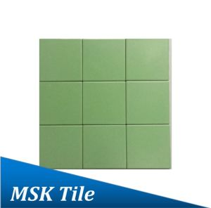 "4X4""Matt Apple Green Glazed Porcelain Floor and Wall Tile pictures & photos"