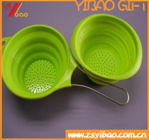 Kitchenware Easy to Clean Silicone Drain Basket with Funnel (YB-HR-23) pictures & photos
