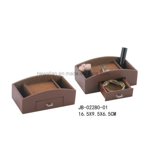 Black Leather Collection Box Storage Box pictures & photos