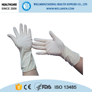White Disposable Medical Latex Gloves pictures & photos