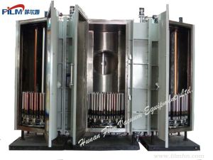 Three Chammber Connect Vacuum Coating Machine Magnetron Sputtering PVD Coater for Solar Tube pictures & photos
