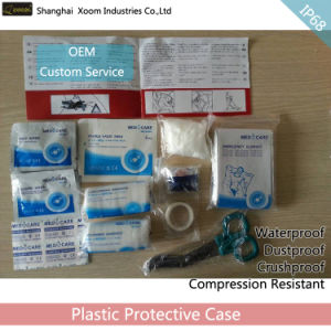 Outdoor/Family/Vehicle Plastic Emergency Box Waterproof First Aid Kit Box pictures & photos
