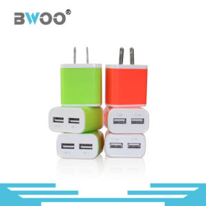 Colorful Us Two USB Wall Charger for Mobile Phone pictures & photos