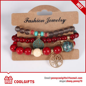 Popular Element Pearl Stone Bracelet with Metal Pendent pictures & photos