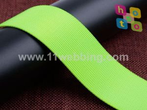 China Supply Stock Colorful 20-50mm Fine Grooved Fake Nylon Webbing pictures & photos