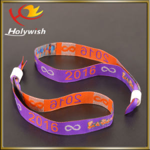 Polyester Material High Secure Fabric Bracelet Custom Festival Wristband pictures & photos