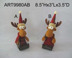 Woodland Christmas Decoration Ornament Reindeer-2asst pictures & photos