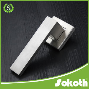 Stainless Steel Door Handle with Square Rose pictures & photos