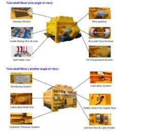 Twin Horizontal Shaft 150~180m3/H Productiviy Js3000 Forced Concrete Mixer pictures & photos