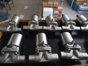 Full Stainless Steel 304/316 Pneumatic Diaphragm Valve Bw, Sanitary Diaphragm Valve pictures & photos