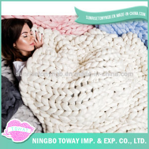 Soft Hand Knitting Wool Crochet Acrylic China Blanket pictures & photos