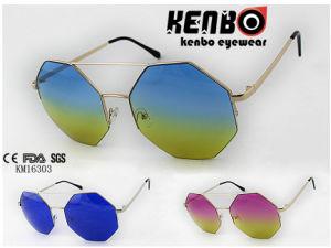 Irregular Shape Half Rim Frame Km16303 Latest Design Metal Sunglasses Muti-Colored Lens pictures & photos