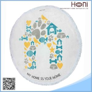 Round Beach Towel with Tassel Fring Factory, Australian Beach Roundies Beach Towel Mandala pictures & photos