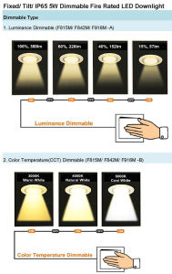 Ce SAA Tilt Fire Rated 5W Dimmable LED Lights Downlight pictures & photos