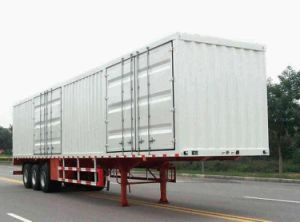 Curtain Side 3-Axle Van/Box Semi-Trailer pictures & photos