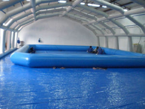 Most Popular 0.6~0.9 mm PVC Large Outdoor Customized Inflatable Pool pictures & photos