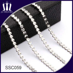 Fashion Stainless Steel Link Chain Heart Shape for Necklace pictures & photos