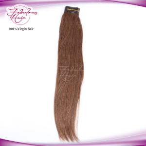 Full Cuticles Intact 6# Virgin Natural Straight Human Hair pictures & photos