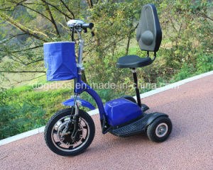 350W/500W Lithium Battery 3 Wheel Mobility Scooter for Shop with Front Suspens pictures & photos