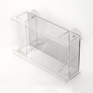 Cheap Clear Transparent Square Acrylic Bird Feeder pictures & photos