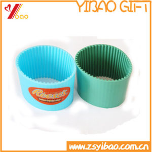 Hot Sale Silicone Heat-Insulation Coffee Cup Cover (YB-AB-027) pictures & photos