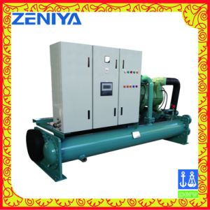 Marine Single System Fresh Water Cooled Semi-Hermetic Screw Type Chiller pictures & photos